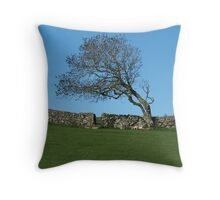 Inishowen Flora - Windswept Tree Throw Pillow