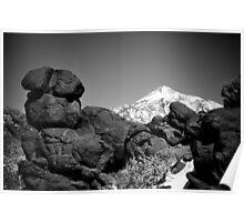 Teide black n white Poster
