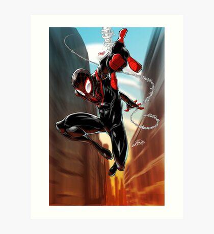 Miles Morales Ultimate Spiderman Art Print