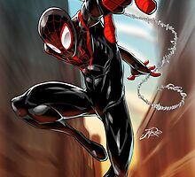 Miles Morales Ultimate Spiderman by styleuniversal