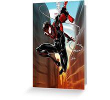 Miles Morales Ultimate Spiderman Greeting Card