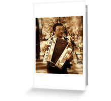 Street musicant Greeting Card