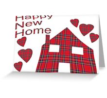 Happy New Home Tartan Greeting Card Greeting Card