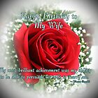 Wife Birthday by Greeting Cards by Tracy DeVore