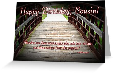 """cousin birthday"""" greeting cards by greeting cards by tracy devore, Greeting card"""