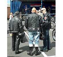 Old Bikers Never Die Photographic Print