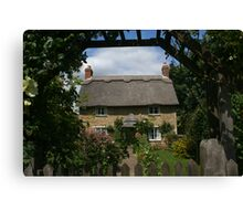 Cottage, Rutland Co., England Canvas Print