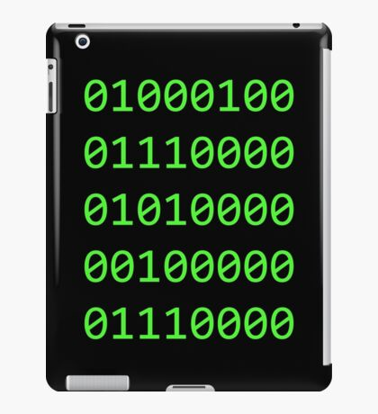 Binary sequence iPad Case/Skin