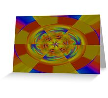 Primary Colors Meet A Rainbow Greeting Card