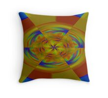 Primary Colors Meet A Rainbow Throw Pillow