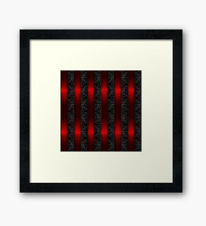 Red Ribbon Stripes Framed Print