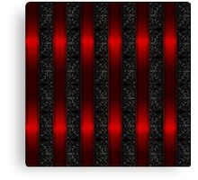 Red Ribbon Stripes Canvas Print