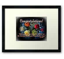 Congratulations! Framed Print