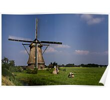 Dutch Windmill Poster