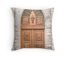 Center Door, Nativity Church Throw Pillow