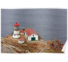 At the edge - Point Reyes Lighthouse, CA Poster