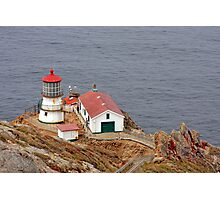At the edge - Point Reyes Lighthouse, CA Photographic Print