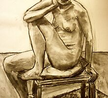 seated woman by Jeremy Wallace