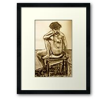 seated woman Framed Print