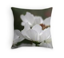 Dream Of White Petals Throw Pillow