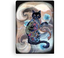 Black Cat Gecko Canvas Print