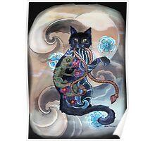 Black Cat Gecko Poster