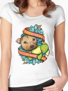 Don't Judge Me... Women's Fitted Scoop T-Shirt