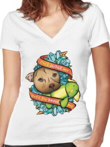 Don't Judge Me... Women's Fitted V-Neck T-Shirt