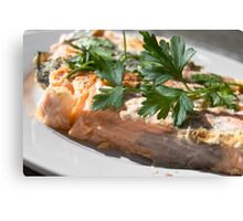 Baked Red Salmon Canvas Print