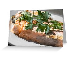 Baked Red Salmon Greeting Card