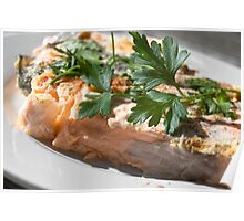 Baked Red Salmon Poster