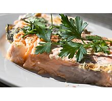 Baked Red Salmon Photographic Print