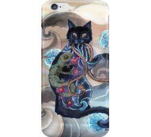 Black Cat Gecko iPhone Case/Skin