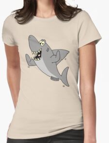 Strong Shark Womens Fitted T-Shirt