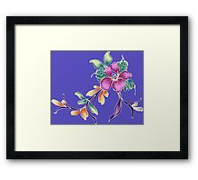 Purple flowers ornament Framed Print