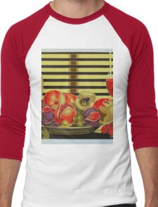 Still Life With Fruit And Wine Men's Baseball ¾ T-Shirt