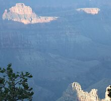 North Rim:  Morning strokes of blue by DawnJM
