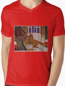 Blue Night Mens V-Neck T-Shirt
