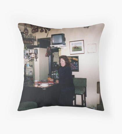 Reg and Fred's Bar Throw Pillow