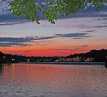 Boathouse Row in Pink. Philadelphia, Pennsylvania by vadim19