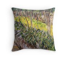 The Garden Wall - Leura Throw Pillow