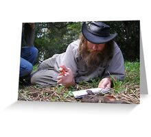 Snake Artist at work Greeting Card