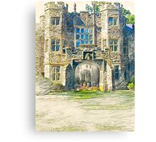 Campers Sketching the Castle One Morning in June Canvas Print