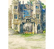 Campers Sketching the Castle One Morning in June Photographic Print