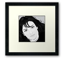 Black & White Portrait Framed Print