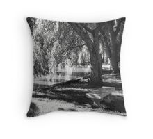 Serenity Under the Willow Trees Throw Pillow