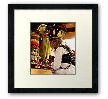 Lady Pedanda, Ubud, Bali Framed Print