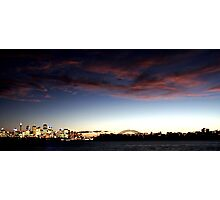 Sydney Harbour At Dusk Photographic Print