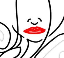 Red Lip Liner Sticker