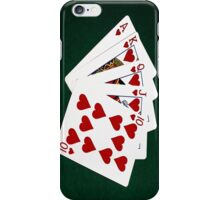 Poker Hands - Royal Flush Hearts Suit iPhone Case/Skin